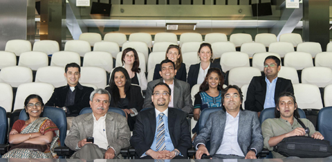 Los futuros l deres indios en el estadio santiago bernab u - Palco santiago bernabeu ...